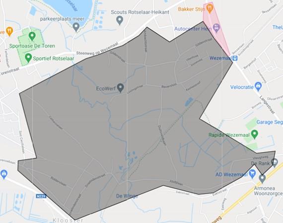 Uitbreiding zone 50 Wezemaal station