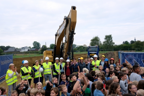 Start bouw kleuterschool Werchter