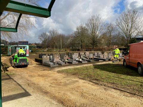Werken begraafplaats Rotselaar