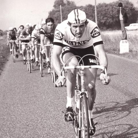 Frans Verbeeck laat Eddy Merckx achter zich
