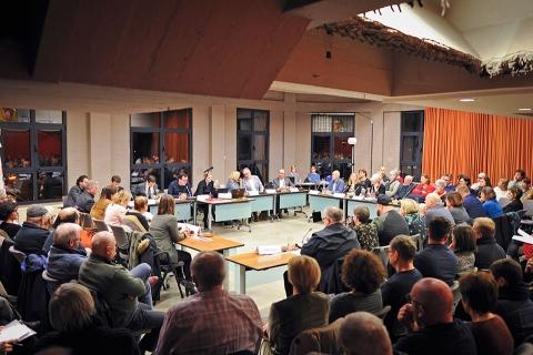 Installatievergadering gemeenteraad 7 januari 2019 - overzicht van de zaal