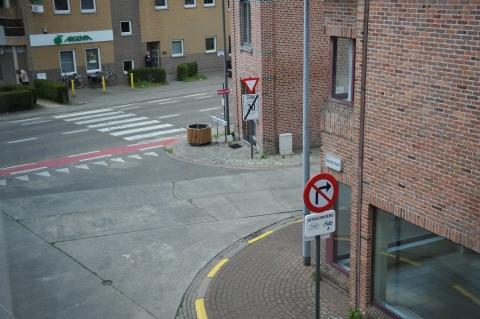 Kruising Groenstraat en Pastorijstraat