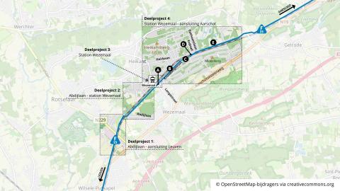 Vier projecten van de F25 op kaart