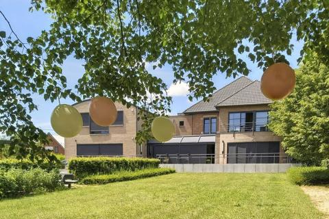 De tuin van het LDC met ballonnen aan de boom