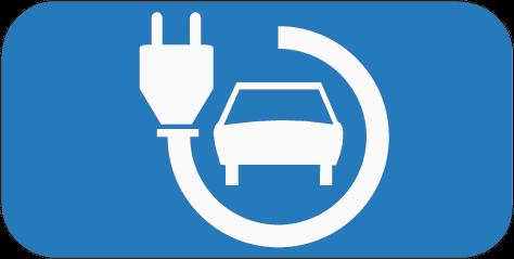 Symbool laadpunt elektrische auto's