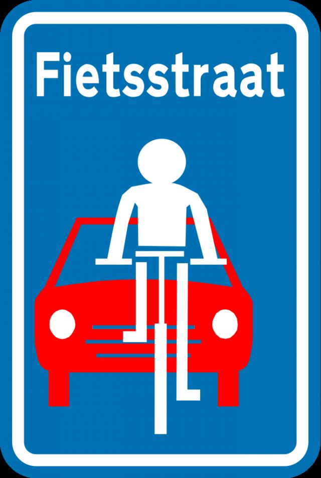 Fietsstraat verkeersbord